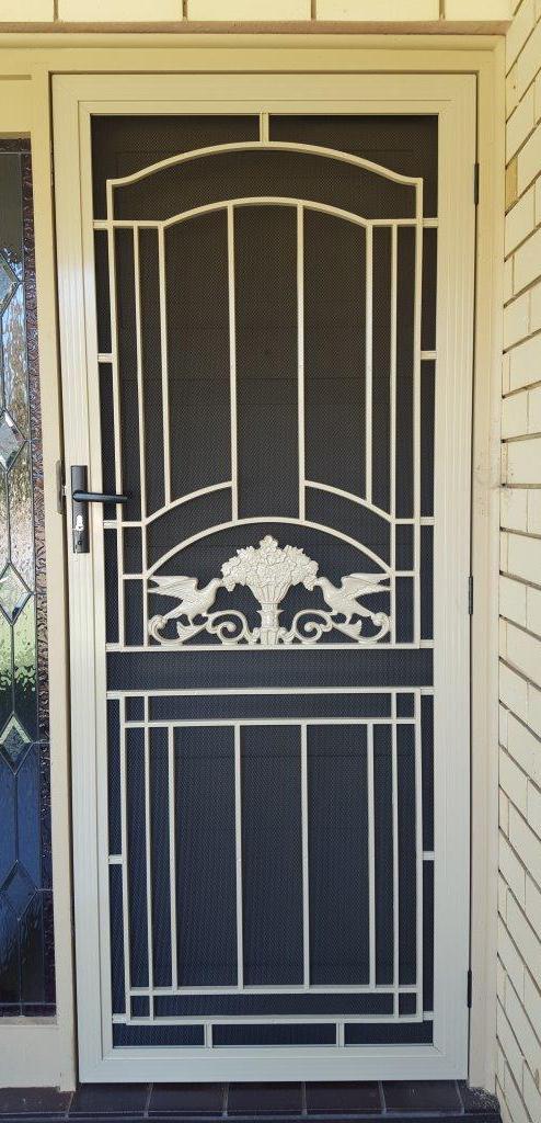 security door screen white